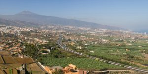 La Orotava Valley from Mirador de Humboltd, Tenerife, Canary Islands.