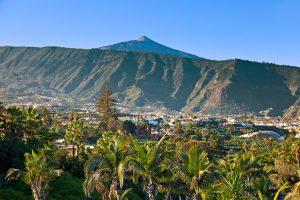 Teide Mountain Peak from Puerto de la Cruz, Tenerife
