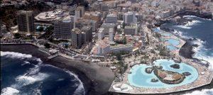 Vista aérea de Puerto de la Cruz, Tenerife, islas Canarias