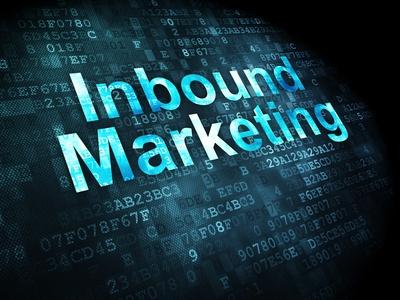 Business concept: pixelated words Inbound Marketing on digital background, 3d render