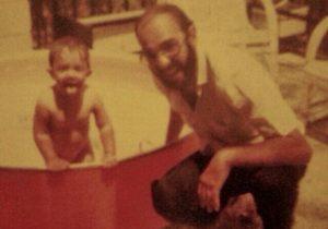 Alberto Martínez con su padre