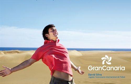 David Silva en una imagen promocional de turismo de Gran Canaria