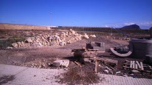 Escombros en Los Abrigos