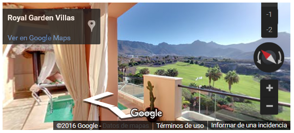 Visita Virtual para Google Hotel Royal Garden Villas