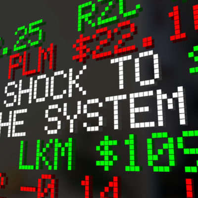 81565074 - shock to the system stock market correction ticker words 3d illustration