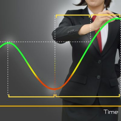 15127614 - business women in presentations economic cycle