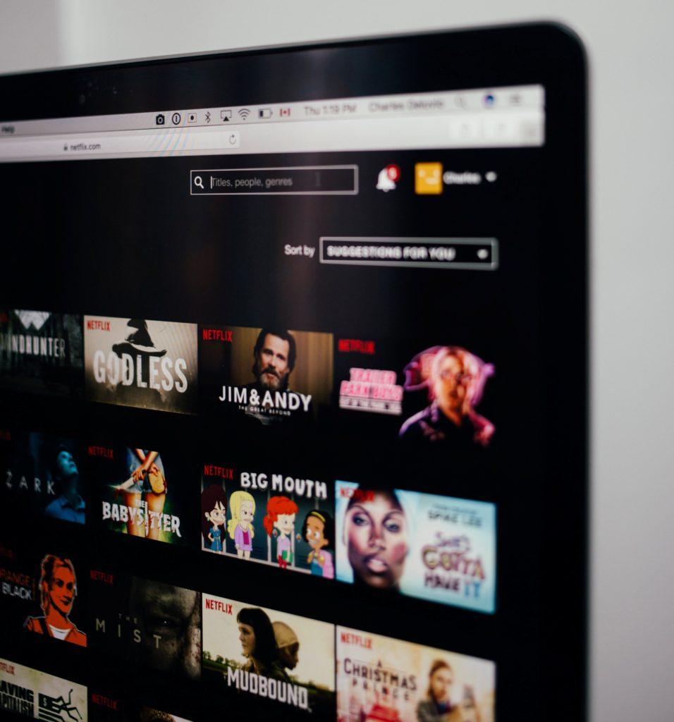 Pantalla de opciones que ofrece Netflix.