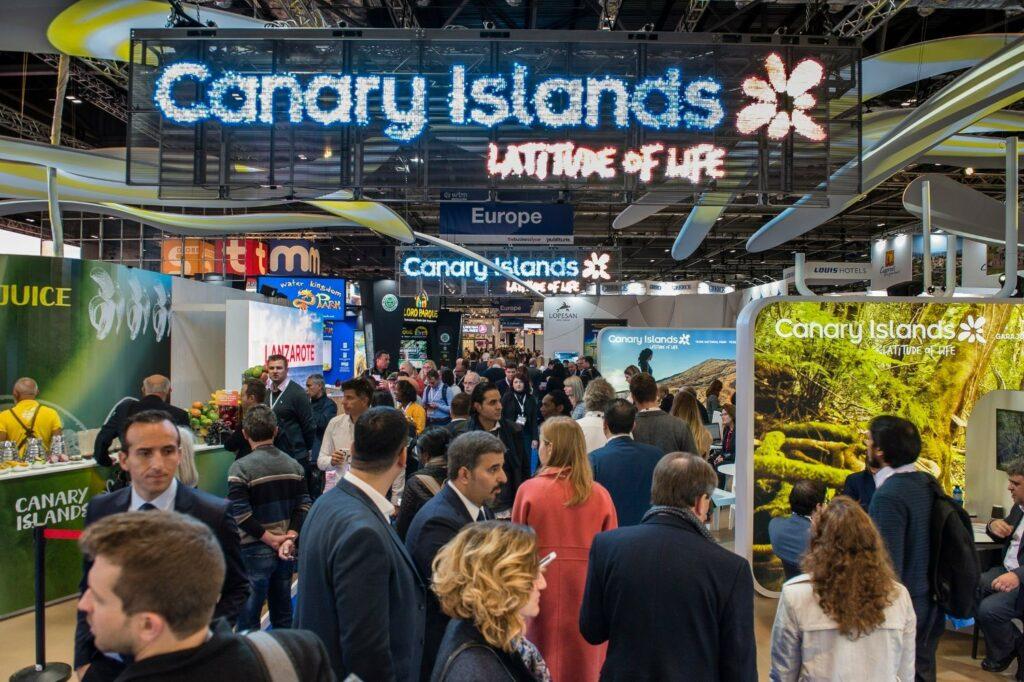 Imagen de ambiente del pabellón Islas Canarias en Fitur 2019