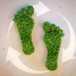 51986792 - green footprint concept