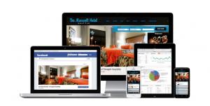 Uso de redes sociales en un hotel