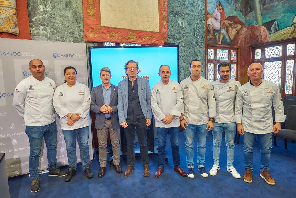 Imagen con algunos miembros del equipo de chef de Tenerife que participan en Madrid Fusión 2019